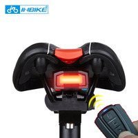 INBIKE Bicycle Rear Light Anti Theft Alarm Rechargeable Wireless Remote Control LED Tail Lamp Bike Warning Smart Bicycle Lights