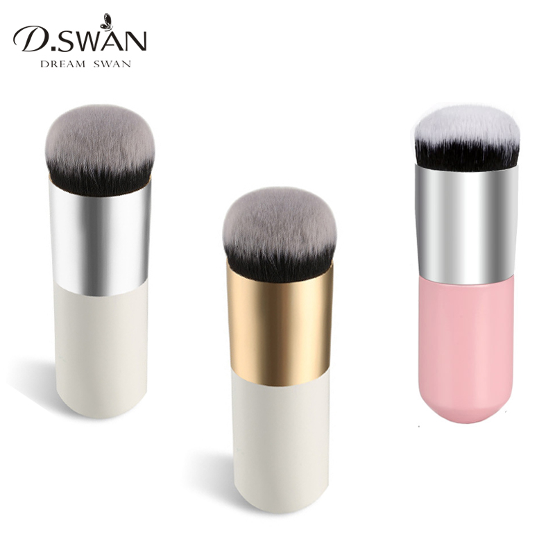 Pro Large Round Powder Brush Makeup Foundation Brushes Cream Cosmetic Blender Make up Beauty Tool very big beauty powder brush blush foundation round make up tool large cosmetics aluminum brushes soft face makeup free shipping