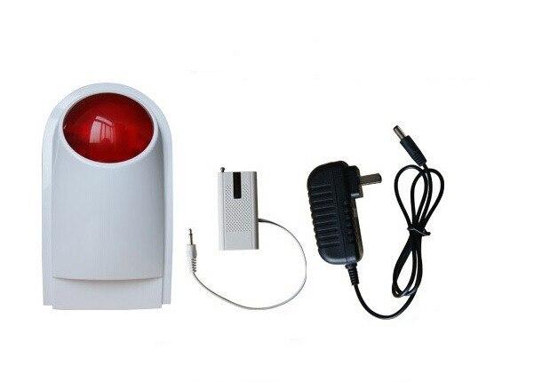 bilder für Freies Verschiffen Drahtlose Außensirene/Wasserdicht Alarmsirene Horn mit Blitzlicht