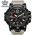 SMAEL Brand Fashion Watch Men New Style Waterproof Sports Military Watches Shock Men's Luxury Analog Quartz Dual Display Watch