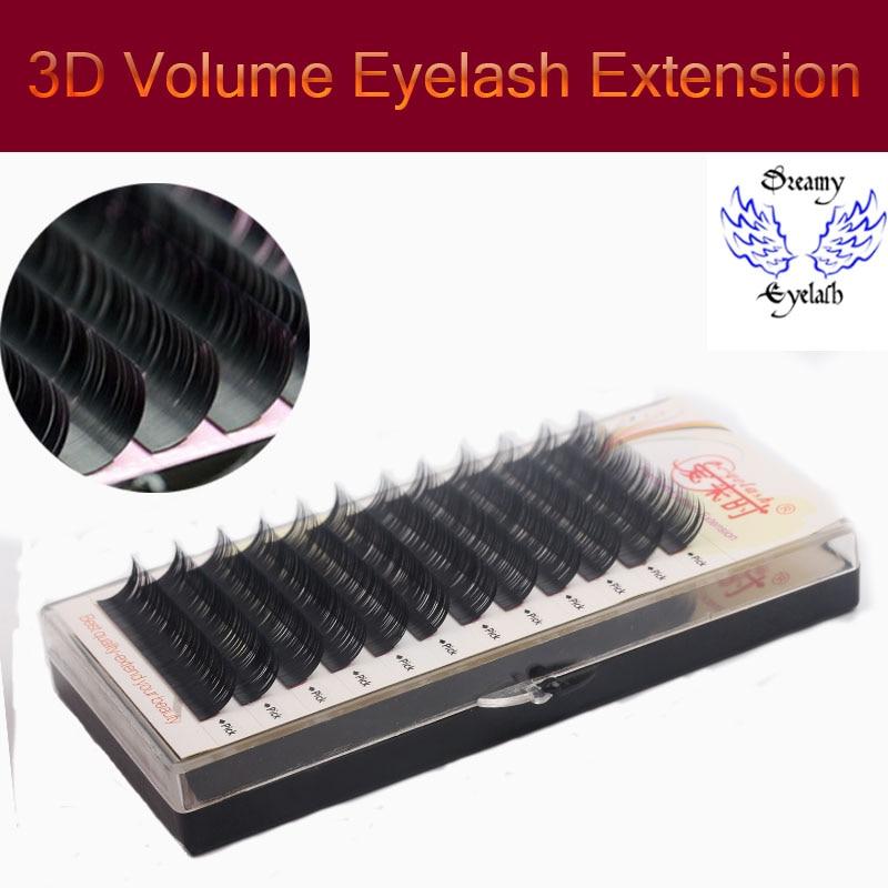 Toate dimensiunile 12 linii / tava 3D Eye Lashes Natural Gel lung Long Soft Extensii pentru genelor Machiaj Lashes cu transport gratuit