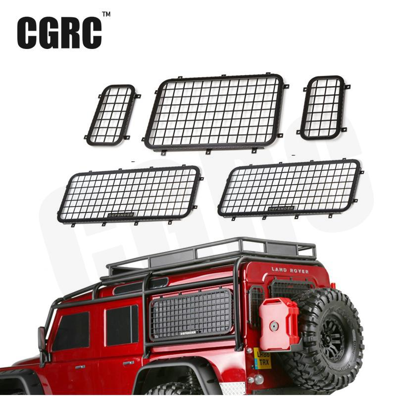 5pcs 1/10 Simulation Stainless Steel Metal Side & Rear Window Protective Net For Traxxas Trx-4  Trx4 Rc Crawler Car finger rock blue enchantress simulation flower assembly model 3d metal puzzle never fade red rose stainless steel jigsaw gift