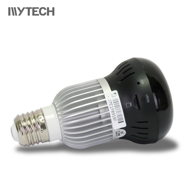 960P Bulb Light 360 Degree WIFI Camera 1.4mm Fisheye Panorama Indoor IR Security IP Camera Two Way Audio Night Vision