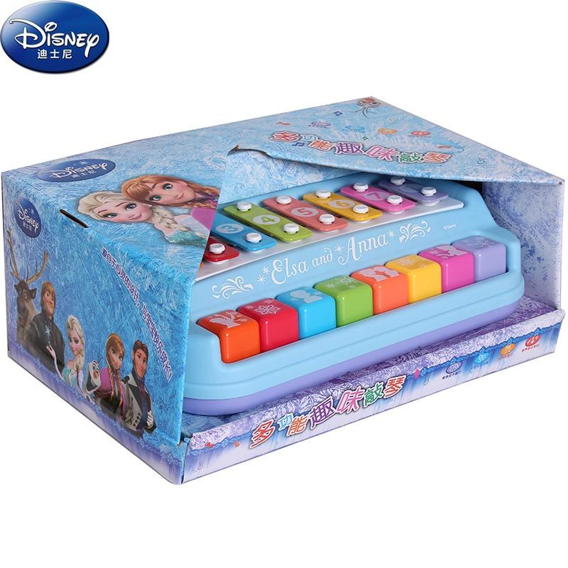 2018 Disney Snow Romance fun knock on piano toys Childrens Day Anna Frozen birthday gift