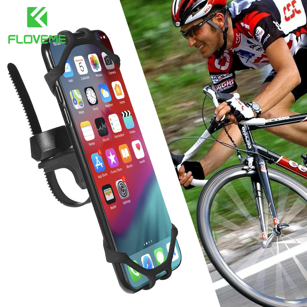 FLOVEME Bicycle Phone Holder Universal Phone Holder For Bike Bicycle Motorcycle Handlebar Mobile Smartphone Support For Samsung