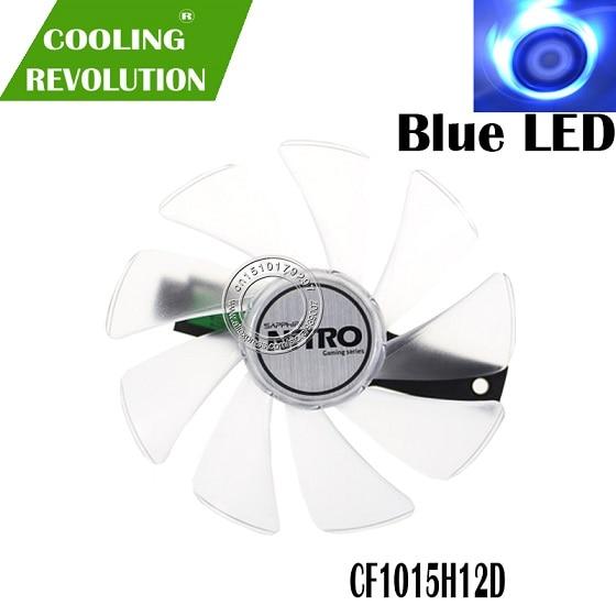 95 мм CF1015H12D DC12V кулер вентилятор Замена для Sapphire NITRO RX480 8G RX 470 4G GDDR5 RX570 4G/8G D5 RX580 8G OC - Цвет лезвия: Blue LED