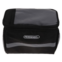 Chinese Singles Day ROSWHEEL Bike Bicycle Bags Cycling Outdoor Front Basket Pannier Frame Tube Handlebar Bag Panniers Double Zippe cargo bag Black
