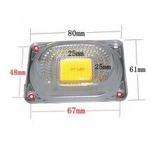 """2 комплекта светодиодный рассеивателем для Светодиодный ламп COB включает в себя: линзу из поликарбоната+ отражатель+ Силиконовое кольцо крышки лампы прожектора """"сделай сам"""""""