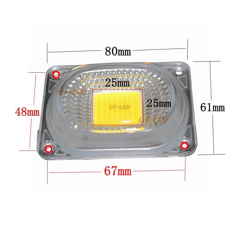 2 комплекта светодиодных отражателей линз для светодиодных ламп COB включают в себя: линзы из поликарбоната + отражатель + Силиконовое кольцевое покрытие для ламп, оттенков прожектора DIY