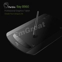 """Parblo bahía B960 9 x 6 """" gráfica pintura dibujo de la tableta de 2048 niveles 5080 LPI 7 teclas de acceso directo para Win XP / 7 / 8 / 10 Mac 10.6 por encima de"""
