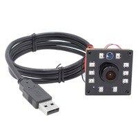 1.3MP HD 0.01Lux תאורה נמוכה לוח USB Webcam מצלמה ראיית לילה IR LED אינפרא אדום מודול עבור אנדרואיד  לינוקס  Windows  Mac|camera module|low illuminationboard camera module -
