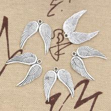 Wholesale Charms angle wings 21*19mm 30pcs Vintage steampunk Pendant Antique sliver Fit Necklace DIY Metal Retro Jewelry 30pcs vintage bronze metal small wings