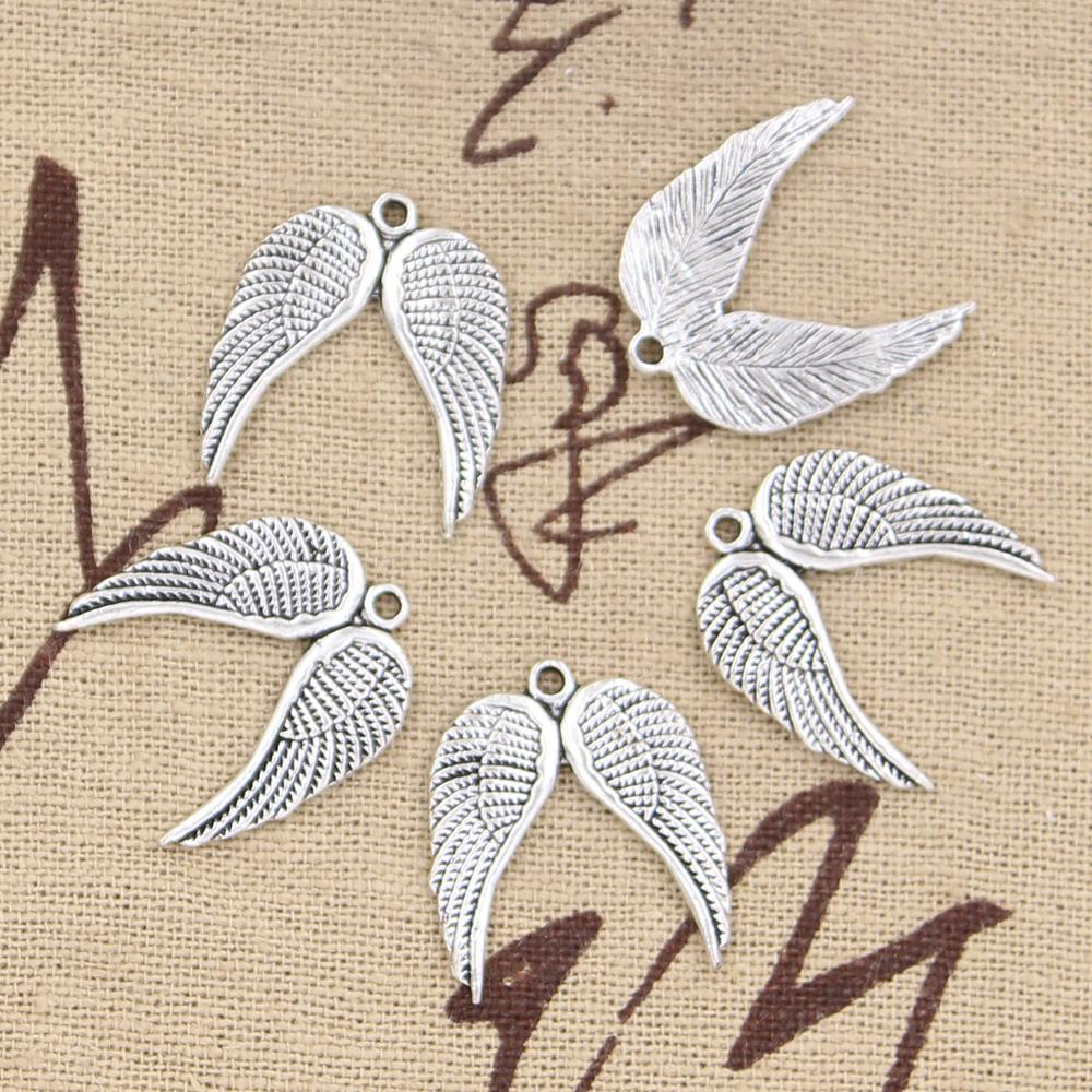 "5 ANGEL WINGS RAINBOW Charms Filigree Enamel Metal 1-5//8/"" chs5383"