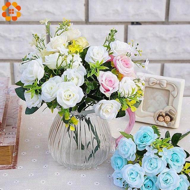 1 Bouquet DIY Silk Artificial Flowers Rose Simulation Flower ...