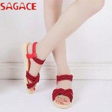 Zapatos Planos de las Sandalias Bohemia Rayas Ocio sapato feminino Señora Sandalia Peep-Toe Zapatos Zapatos Al Aire Libre si12 d