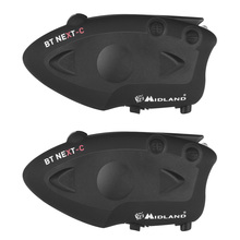 2 pcs MIDLAND BT NEXT Motorcycle Bluetooth Helmet Intercom Headset Universal Waterproof BT Interphone 6 Riders 1600M FM