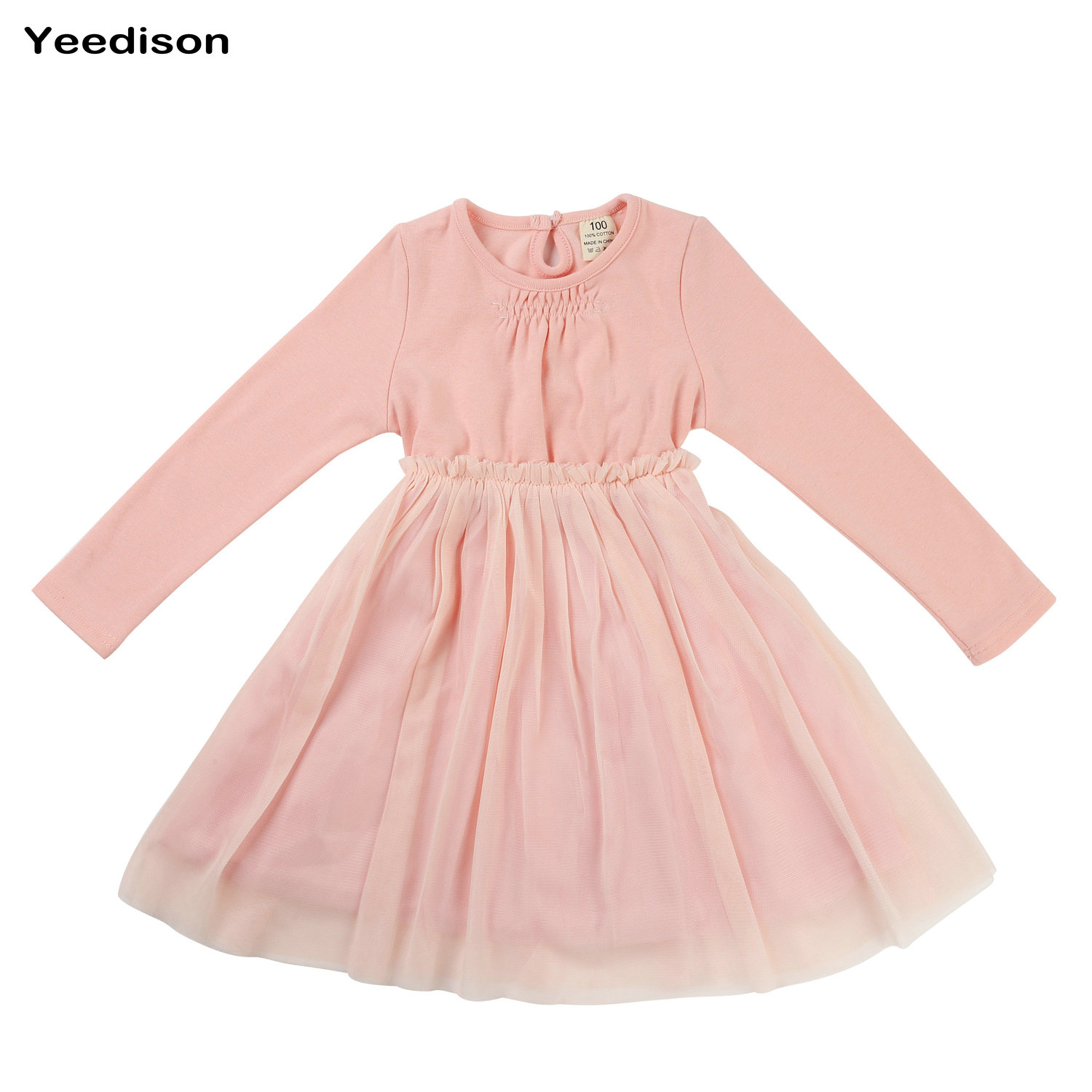 Baby Girls Dresses Long Sleeves Casual Kids Clothes Girls Summer
