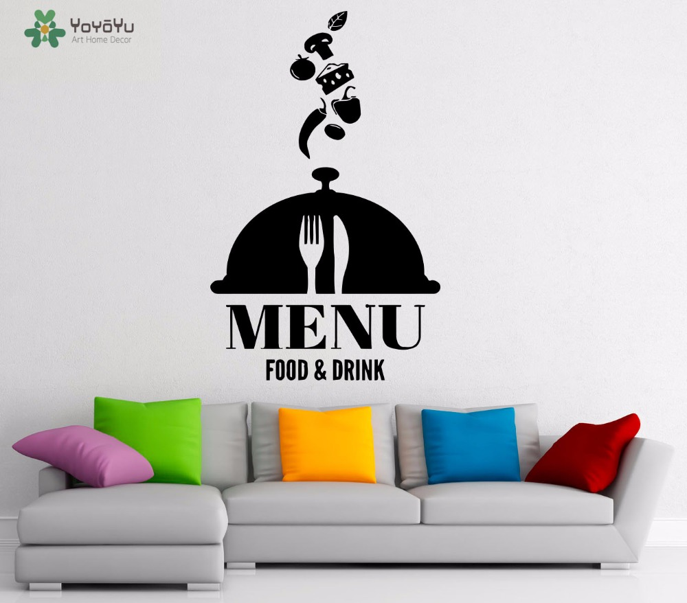 YOYOYU Wall Decal Quotes Menu Food And Drink Vinyl Wall Stickers Kitchen Special Modern Interior Home Decor Art Removable SY963