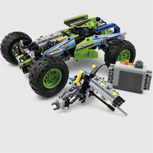 Technic RC TRACKED RACER Car Electric Motor Power Function Fit technic City Building Block Bricks Model Kid Gift(China)