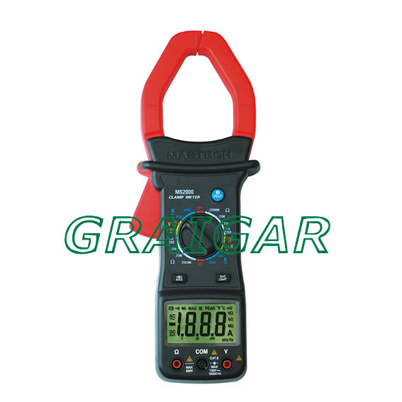Mastech MS2000 AC Digital Clamp Meter 2000A Multimeters Free Shipping  цены