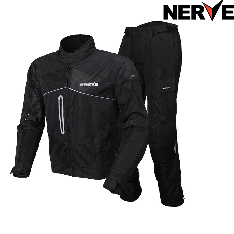 NERVE Men's WOMAN'S Motocross Off-Road Jaqueta Oxford Cloth Motorcycle Riding Racing Moto Jacket Protector SUMMER mesh jaket - VECCHIO MOTORCYCLE SUPPLIES Store store
