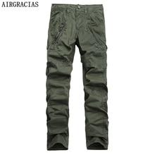 AIRGRACIAS Mehrfach männer Military Cargo Pants Lose Stil Männer Hosen Taktischen Beiläufige Lange Hose Männlichen Reißverschluss größe 29-38