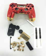 PS4 Full Set Housing case Chrome Gold Red Shell Cover Protector Replacement For PS4 Playstation 4 V1 Controller w/ Screw Driver стоимость
