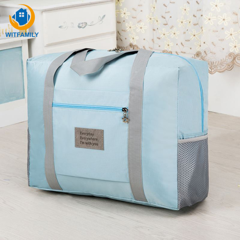 Portable Travel Luggage Package Duffle Bag Men Women Storage Bags Oxford Cloth Waterproof Clothes Shoes Socks Organizer Supplies