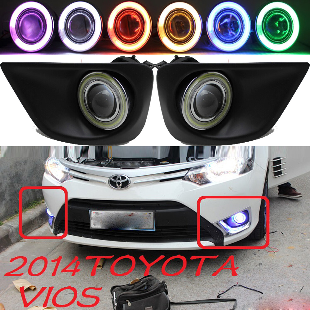 Vios fog light ,2014;Free ship!Vios daytime light,2ps/set+wire ON/OFF;optional:Halogen/HID XENON+Ballast,Vios crosstour fog light led 2014 2016 free ship crosstour daytime light 2ps set wire on off halogen hid xenon ballast crosstour