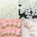 3mm 40pcs flat abs semicircle pearl imitation pearl diy mobile Nail Stickers beauty paste drill nail material nail accessories