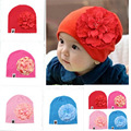 Baby Hats Newborn Boys Hats 2016 Cotton Kids Beanie Photography Props Baby Costumes Knitted Peony flower Baby Caps for Boys
