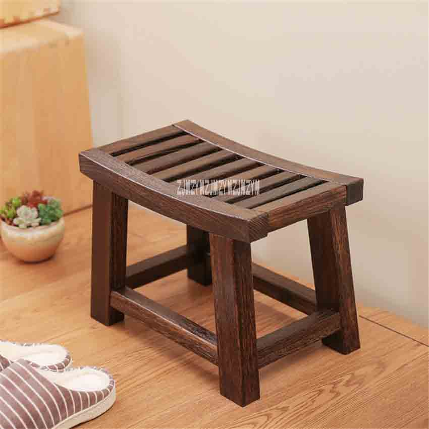 Nouveau Portable moderne chinois Paulownia bois solide bois tabouret asiatique meubles traditionnels salon petit banc en bois tabouret bas