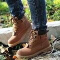 Los Hombres de la marca de la Nieve del Invierno Botas De Cuero Genuino Cómodo Con la Piel Más El Tamaño de Los Zapatos de Alta Calidad Antideslizante Trabajo Shoes068