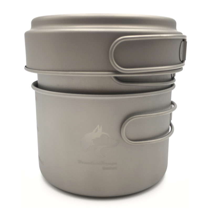 ФОТО Boundless Voyage Titanium Pot Set Camping Pot Picnic Pan Outdoor Cookware  Ti1501B
