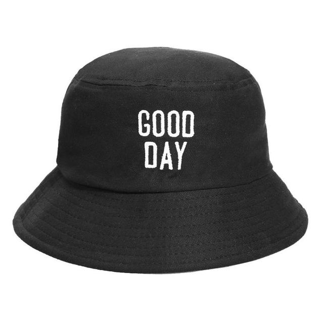 c83f4f89371 Solid Colors Bucket Hats for Women Men 2018 Summer Casual Letters  Embroidery Bucket Hat Beach Sun Fishing Cap