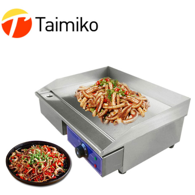 New commercial or home electric grill with temperature control convenient to operate stainless steel electric griddle flat plate