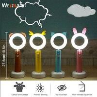 Wrumava Kids Reading Light LED Eye Care Adjustable Angle Timer Desk Lamp Auto Off USB Rechargeable