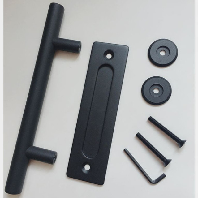 12 Inch Sliding Barn Door Pull Handle Durable Bar Flush For Hardware Black