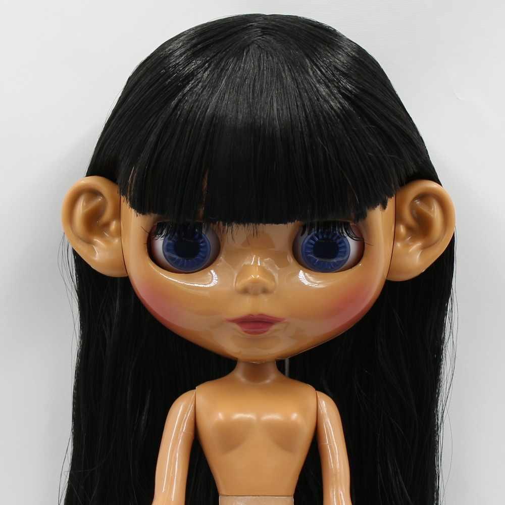 1/6 ouvidos brinquedo boneca blyth boneca gelada, branco natural castanho escuro preto e super pele, apenas as orelhas, nenhuma boneca