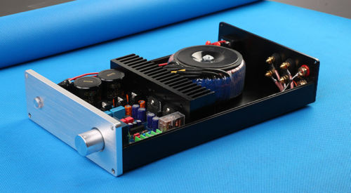 Finished LM3886TF stereo Audio amplifier with Case Transformer 60W+60W