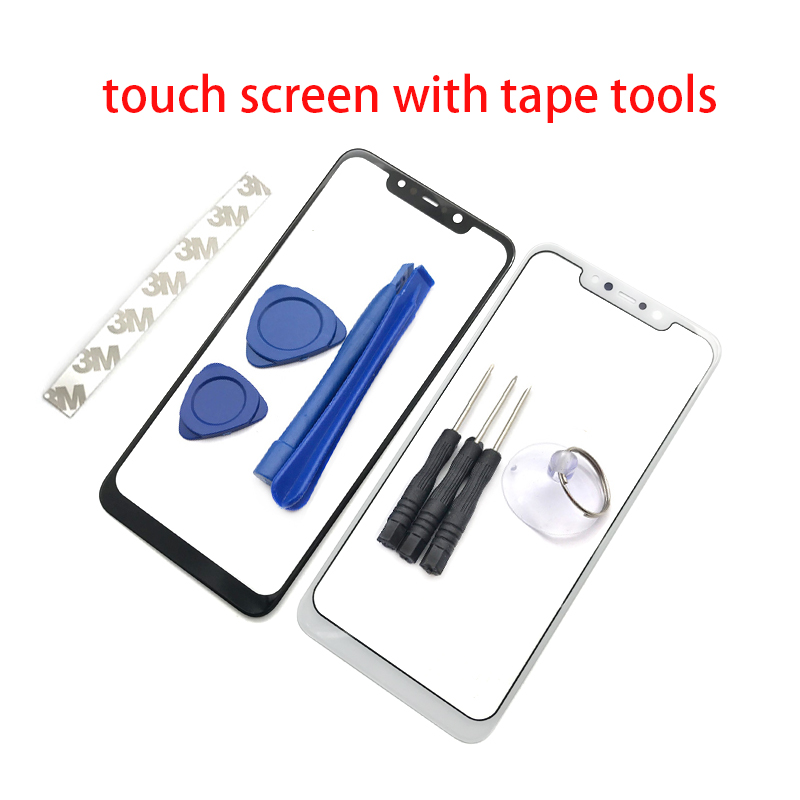Front Panel Digitizer For Xiaomi F1 Pocophone Touch Screen Sensor LCD Dispaly Glass Cover