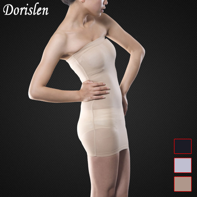 2e8c0d9807f8 Dorislen 500pcs/Lot Women Wedding Slimming Dress Slip Body Control Boob Tube  Magic Skirt Shapewear 3 Colors