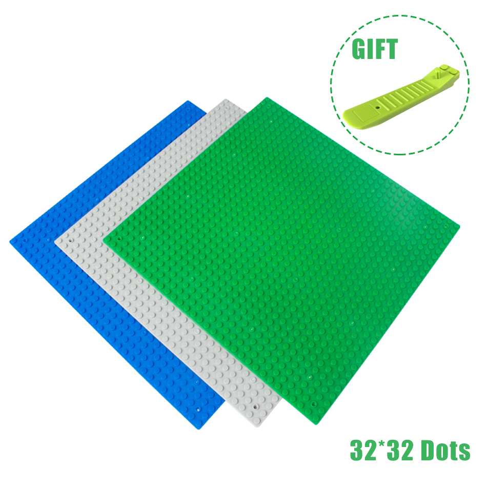 32*32 Dots Small Blocks Base Plate DIY Bricks Parts Building Blocks Action Figures Baseplate Compatible Legoed Brinquedos new 2017 updated version small bricks base plate 32 32 dots 25 5 25 5cm 10x10 diy building blocks baseplate toy figures 14 col