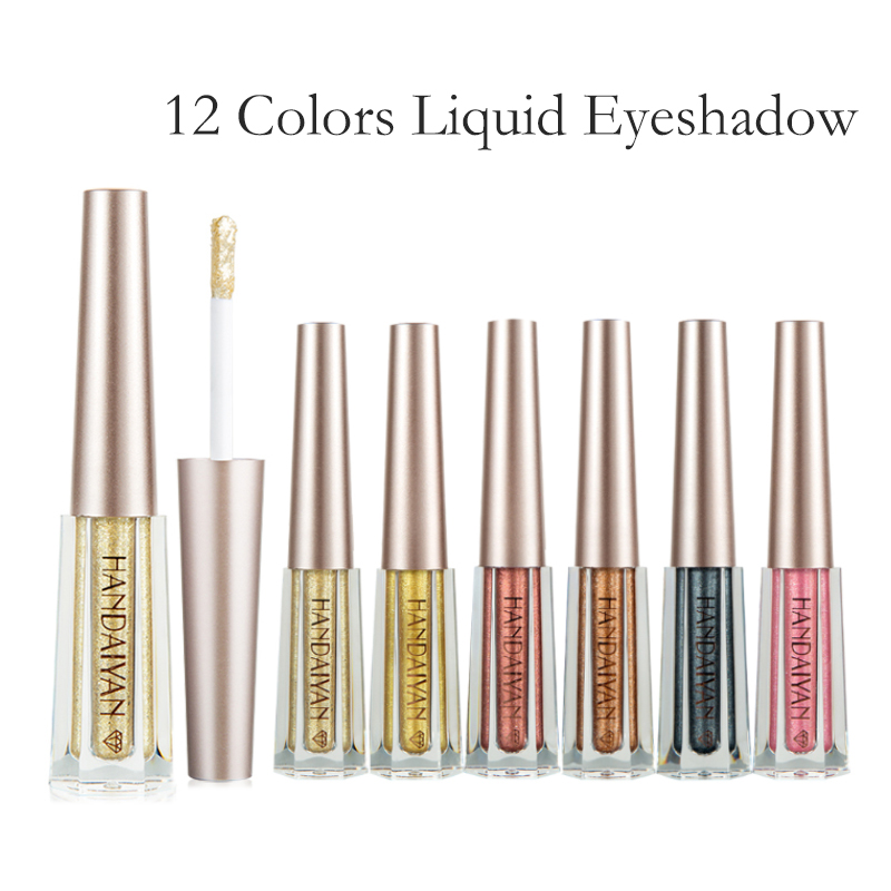 Liquid Eyeshadow Glitter Eye Shadow Pen Waterproof Long Lasting Shimmer Shine metallic Liner Party Eye Cosmetic Makeup in Eye Shadow Liner Combination from Beauty Health