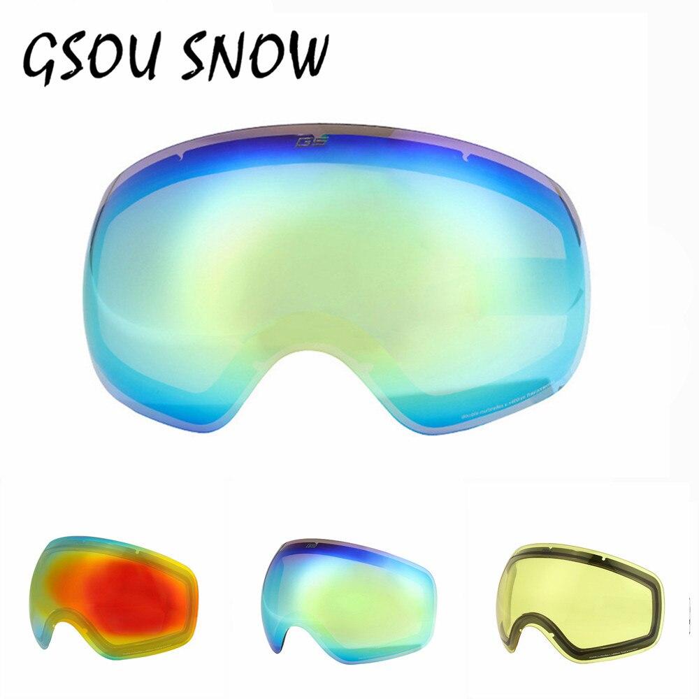 Prix pour Gsou Neige Multi-couleur Ski Lunettes Lentille Extérieure Professionnel Snowboard Lunettes Un Sport Lunettes à Verre De Neige