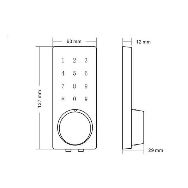 Wifi Electronic Door Lock,Smart Bluetooth Digital APP Keypad Code Keypad Door Lock,Password Keyless Door Safe Lock Electronic