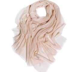 100% Cachemira bufanda sólida borla pashmina suave para mujeres de alta calidad