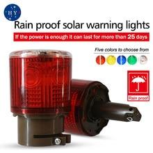 Warning flashing light/LED Solar Safety Signal Beacon Alarm Lamp/Road safety warning lightsRed, yellow, blue, green and white