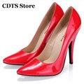 CDTS Zapatos Crossdresser 2016 clásico de color sólido solos zapatos 10 cm tacones delgados dedo del pie acentuado ol formal del banquete de la mujer bombas