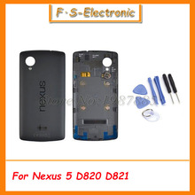 Free Shipping Battery Housing Case for LG Google Nexus 5 D820 D821 Battery Back Rear Housing Cover Case With Opening Tools